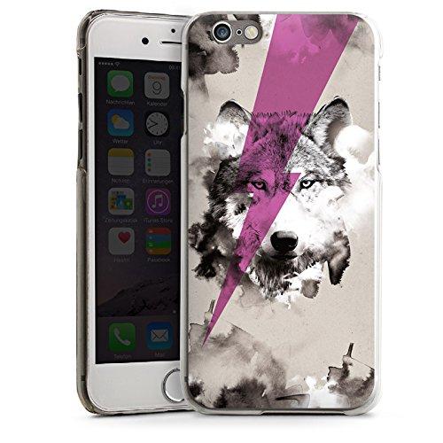 Apple iPhone 4 Housse Étui Silicone Coque Protection Hipster Loup Éclair CasDur transparent
