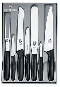 Victorinox set di 7 coltelli da cucina professionali manico in nylon colore nero - Victorinox coltelli cucina ...