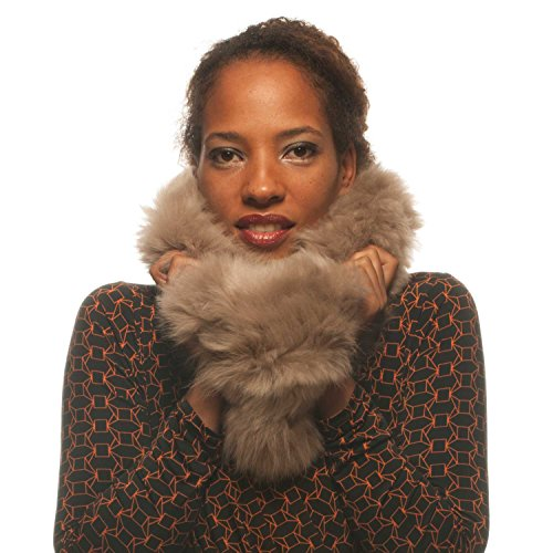 Wildash London 1 Marilyn Doppel Geschicht Toscana Shearling Snood (Honig Gold) Gold-snood