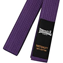 Lonsdale para hombre artes marciales Karate Judo Taekwondo cinturón Playwell Morado morado Talla:Adulto