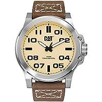 CAT Chicago 3HD-Orologio da uomo al quarzo con Display analogico e cinturino in pelle marrone PS.141,35.321