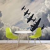 Autos Flugzeuge Transport - Forwall - Fototapete - Tapete - Fotomural - Mural Wandbild - (570WM) - XXXL - 416cm x 254cm - VLIES (EasyInstall) - 4 Pieces