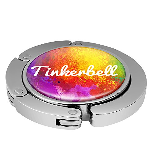 Taschenhalter Color Paint Personalisiert mit Namen Tinkerbell printplanet Chrom