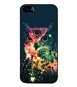 Fiobs High Glossy Designer Phone Back Case Cover Apple iPhone SE ( Owl Tripping Hipster )