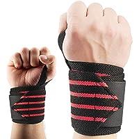 """(1 Paio) Fasce da polso (Wrist Wraps), Supband Supporto da polso Sport - 45 cm (18"""")- Supporto per polso per CrossFit, ginnastica, sollevamento pesi - Per Donne e Uomini"""