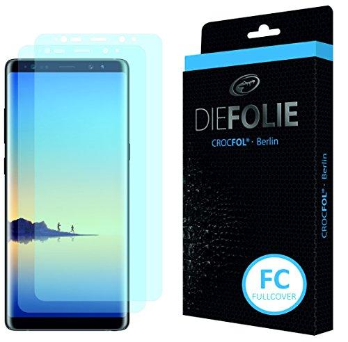 Crocfol Bildschirmschutz für Samsung Galaxy Note 8: 2X DIEFOLIE Schutzfolie, 1x DASFLÜSSIGGLAS flüssiges Glas - Fullcover Folie zur Nutzung ohne Schutzhülle