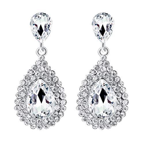 Vintage Luxus voller Diamant Ohrstecker Damen Temperament Ohrringe Schmuck (Mit Karma Ring Diamant)