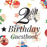 2nd Birthday Guest Book: Cute Baby Superhero Hero Comic Themed - Second Party Baby Anniversary Event Celebration Keepsake Book - Family Friend Sign in ... W/ Gift Recorder Tracker Log & Picture Space