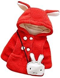 ZARU Las niñas bebé para el invierno cálido con capucha chaqueta de la capa de ropa caliente grueso