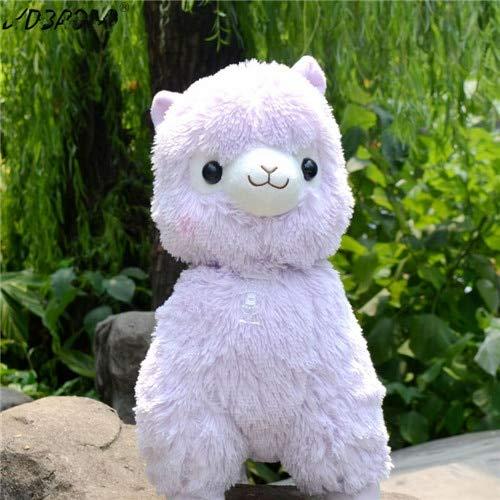 CGDZ 1 STÜCK 35/45 cm Schöne Japanische Alpacasso Stofftiere Puppe Kawaii Schafe Alpaka Plüsch Kuscheltiere Spielzeug Kinder Lila 45 cm (Stofftier Lila Elefant)