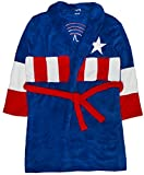 Mens Novelty Avengers Fleece Dressing Gown Fleece Bath Robe House Coat One Size