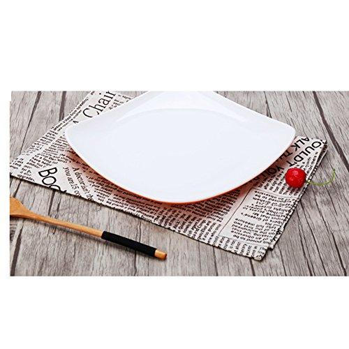 assiette ,plaque d'accentuation,assiette d'apéritif, assiette à dessert , assiette de salade / plat /plateau de riz au four/ bols de riz / gâteau -C