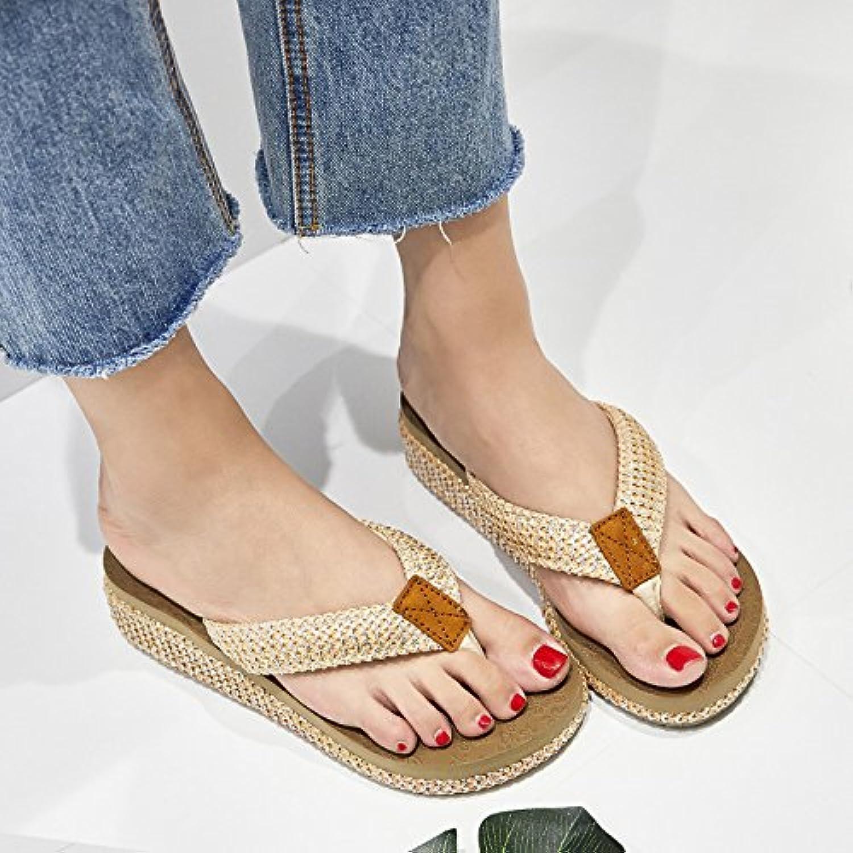 YUBIN Sandalias Baotou De Cuero Completo De Las Mujeres De Estilo Femenino Verano Nuevo con Elegantes Zapatos Puntiagudos Colores Mezclados Después De La Correa con Los Zapatos Vacíos