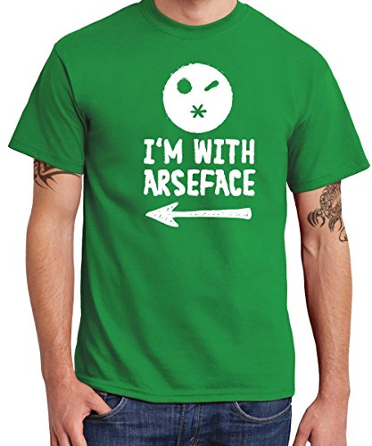 -- I'm With Arseface -- Boys T-Shirt Kelly Green