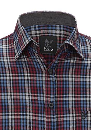 Hajo Polo & Sportswear camicia a quadretti Bordeaux