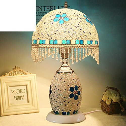 Tischleuchte/Schlafzimmer Bett Lampe/Creative Night Lights/Dual-use-dekorative Beleuchtung/Östliches Mittelmeer Stil Lampe/Studie Lampe (Dual-sockel-leuchte)