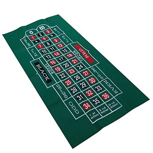 bozitian Pokermatte Spieltischdecke Doppelseitiges Muster Filz Vliestuch Wasserdicht Tischset Blackjack Roulette Tischdecke,Faltbare Tischauflage Casino Pokertischauflage