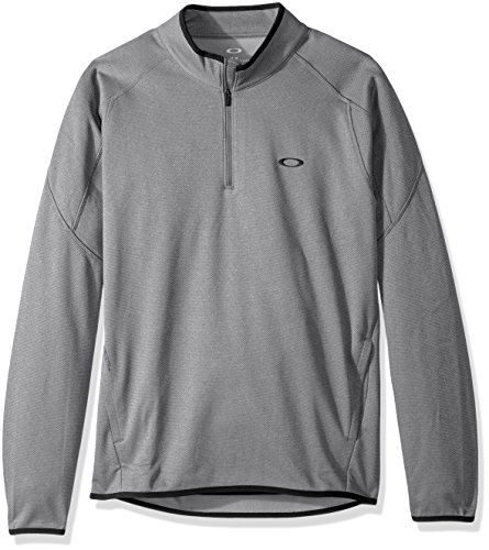 Oakley Prime Pull 1/4 Zip Homme, Granite Heather, FR : M (Taille Fabricant : M)