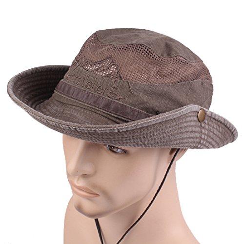 KeepSa Cappello di Pesca del Cappelli della Cinghia del Ricamo del Cotone  dell uomo di Estate Cappello del Pescatore Cappello Esterno di Arrampicata  ... 767281de37e7