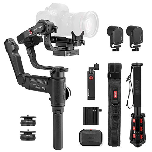 Zhiyun Crane 3 LAB 3-Axis Handheld Stabilizer Gimbal for Mirrorless/DSLRs Cameras and Smartphone,1.10lbs-9.92lbs Payload (Crane 3 Creator Package) -