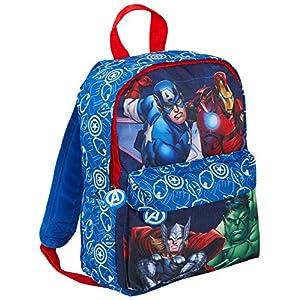 5107fhqXFyL. SS300  - Marvel - Mochila de viaje para niños y niñas, diseño de Los Vengadores, azul (Azul) - MNCK8965