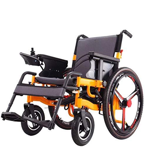 Jacquelyn Sedia a rotelle elettrica Pieghevole, la Ruota da 24 Pollici Portable Longest Drive 20km20A Batteria al Litio, Due modalità per Anziani disab