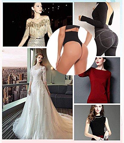 NINGMI Damen Mieder String Tanga Mittlere Taille Miederslip Figurformend Miederhose Shapewear Taillenmieder Body Shaper - 7