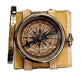 '' Robert Frost Gedicht'' bestes Weihnachtsgeschenk gravierte Messingkompass mit Emboss Nadel & Ledertasche . C-3240