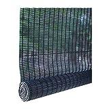 ZEMIN Bambus Rollo Anti-UV Natur Bambusrollo Abgeschnitten Anpassbar Heben, Innen/Außen Installieren, 3 Farben, 24 Größen Wahlweise (Farbe : SCHWARZ, größe : 50x100cm)