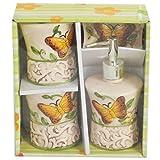 Premium Ceramic Set Of 4 Yellow Bathroom...
