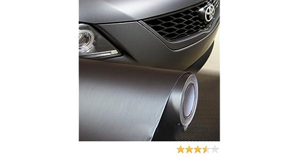 Pellicola Alluminio Spazzolato Grigio scuro Adesivo Car Wrapping 100cm x 122cm
