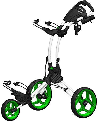 Rovic Clicgear rv1C Golf Push Cart, Arctic/Lime