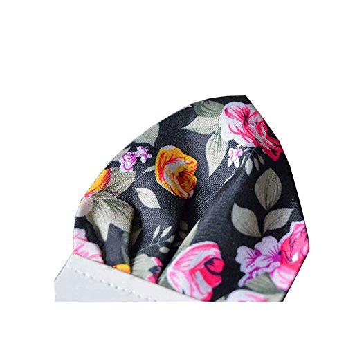 Sitong hommes r¨¦tro petite impression florale porte portable poche carr¨¦e poitrine KMSH-006