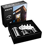 Krups XS8020 Barista Box mit Edelstahl Kakao Streuer inkl. Verziehr-Schablonen, Milchkännchen und Kaffee-Box