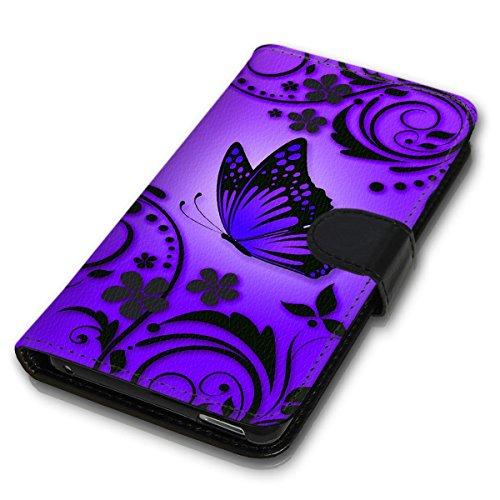 Wallet Book Style Flip Handy Tasche Case Schutz Hülle Schale Motiv Etui für Apple iPhone 6 / 6S - Variante UMV31 Design3 Design 2