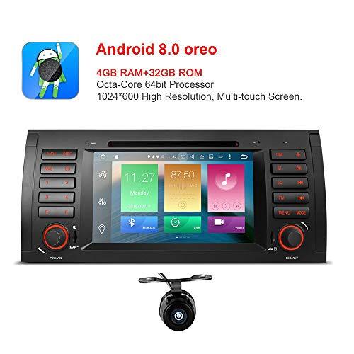 freeauto für BMW E53E39X5M5-7-Zoll Android 8.0Multi Auto-Stereo-DVD-Player mit Touchscreen-Bildschirm Canbus vergleichbar mit Funktion OBD2Octa-core 64bit, 4G, 32GB ROM mit Rückfahrkamera