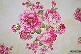 Big Rose, 100% Baumwolle, für Kleider, Wimpel, Basteln,