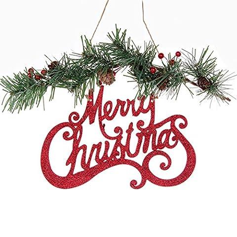 asunflower Merry Christmas Tür Decor Kiefer Xmas Tree, der Ornamente für House Set von 1