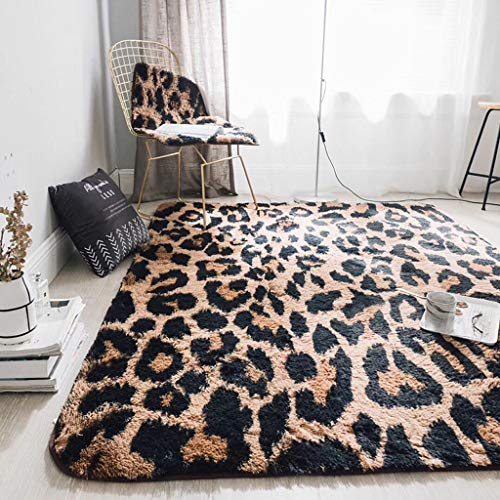 Benfa area rug high-end leopard long mink velluto divano del salotto tavolino comodino (150cm * 190cm, 5 '* 6'),a