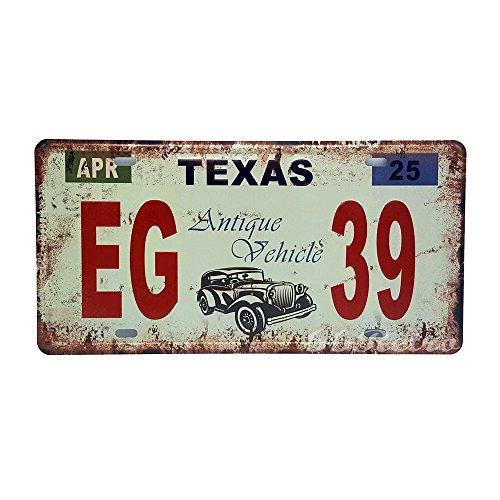 66retro Texas eg-39, antik Fahrzeug geprägt, Vintage Metall blechschild, Wand Deko - Halloween Lexus