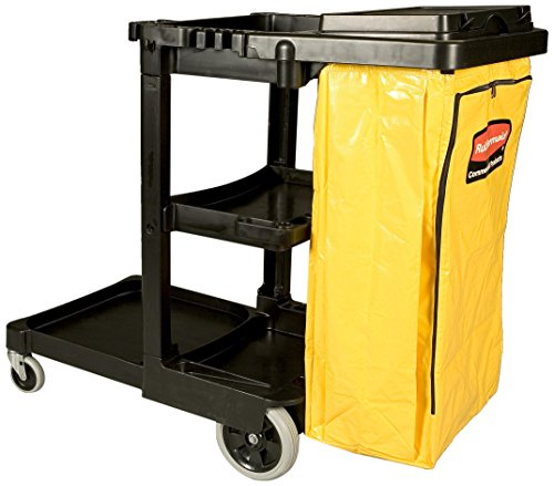 Rubbermaid Commercial Cleaning Cart Janitor Cart (2 fixed casters / 2 swivel wheels) - - Swivel Caster