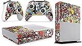 giZmoZ n gadgetZ GNG Xbox One S Konsolen-Gehäuseaufkleber, Motiv: STICKERBOMB inklusive 2er-Set mit Aufklebern für Controller