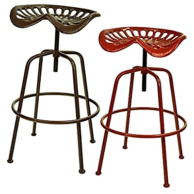east2eden Vintage Retro Metal Farm Garden Home Tractor Seat Bar Stool Furniture