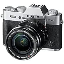 "Fujifilm X-T20- Cámara EVIL de 24 MP (pantalla de 3"", visor electrónico, resolución máxima 4K ) plata - kit cuerpo con objetivo XF 18-55 F2.8-4 R LM OIS"