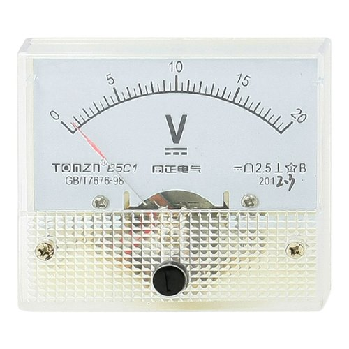 DC 0-20V Feinabstimmung Dial Panel rechteck Analog Volt Spannung Meter de