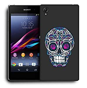 Snoogg Floral Skull Designer Protective Back Case Cover For SONY Z3