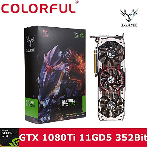 Colorful iGAME Game GTX 1080Ti Video Grafikkarte, Türkei neuesten GPU NVIDIA, 3584Cuda Kerne und 11GB GDDR5X Speicher, 11GB Rahmen Puffer, NVIDIA Grafikkarte 1080ti von DHL oder Fedex schwarz schwarz