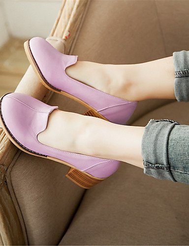 WSS 2016 Chaussures Femme-Mariage / Habillé / Décontracté / Soirée & Evénement-Noir / Rose / Violet / Blanc-Gros Talon-Talons-Talons-Similicuir white-us5.5 / eu36 / uk3.5 / cn35