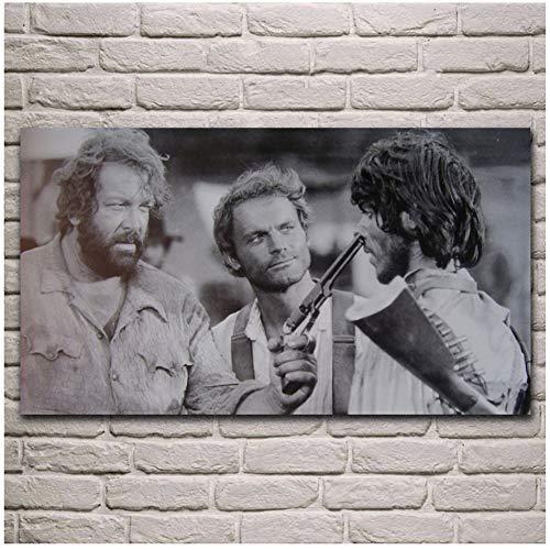 A&D alte Filme Kunstwerk Terence Hill Bud Spencer Wohnzimmer dekor Hause wandkunst dekor Stoff Poster Druck auf leinwand -50x85 cm Kein Rahmen