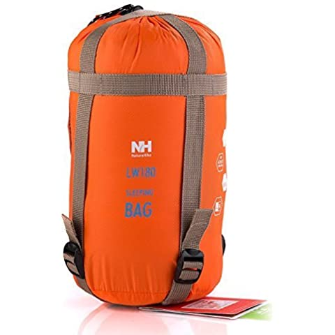 Gearmax® Busta esterna Sacco a pelo di campeggio di viaggio Trekking multifunzione(Arancione)